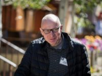 News Corp CEO Robert Thompson, seen at a 2017 conference, stepped up his criticism of Google and Facebook as his firm released quarterly earnings