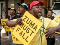 Supporters of the African National Congress Deputy President Cyril Ramaphosa demonstrated against President Jacob Zuma outside ANC party headquarters in Johannesburg earlier this week