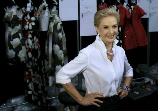Fashion designer Carolina Herrera will wave goodbye to the runway after four decades at the helm of her fashion label