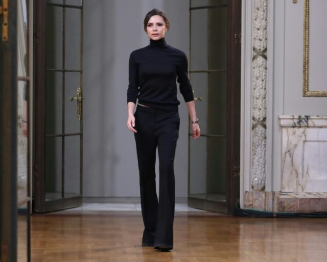 Designer Victoria Beckham walks the runway at her show during during New York Fashion Week, before heading to London for the 10th anniversary of her label later this year