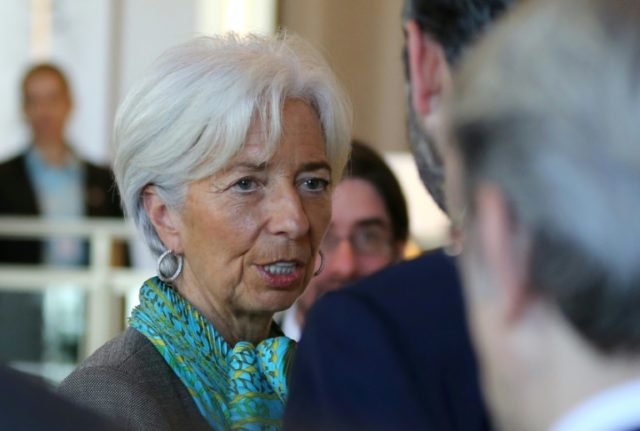 IMF chief Christine Lagarde at the World Government Summit in Dubai on February 11, 2018