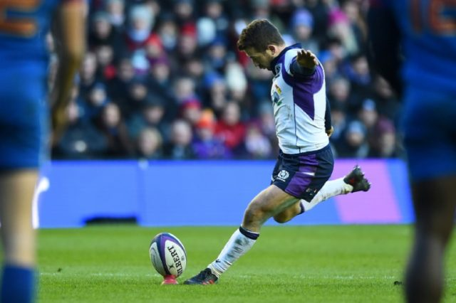 Scotland scrum-half Greig Laidlaw celebrates his birthday in style with 22 points from the boot