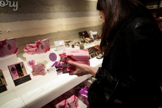 Tickled pink: Japan lovers taste new chocs on Valentine's Day