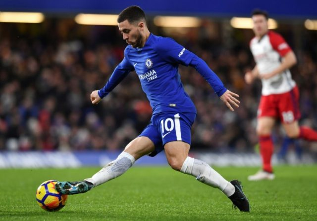 Eden Hazard's brace eases the pressure on under-fire Chelsea manager Antonio Conte