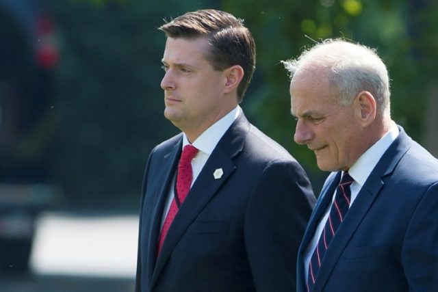 White House points fingers over security clearance scandal