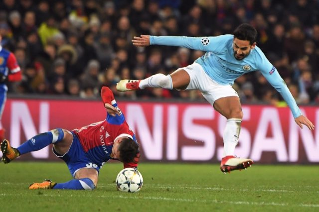 Ilkay Gundogan scored twice as Manchester City dominated Basel 4-0 in the first leg, last 16 match in the Champions League