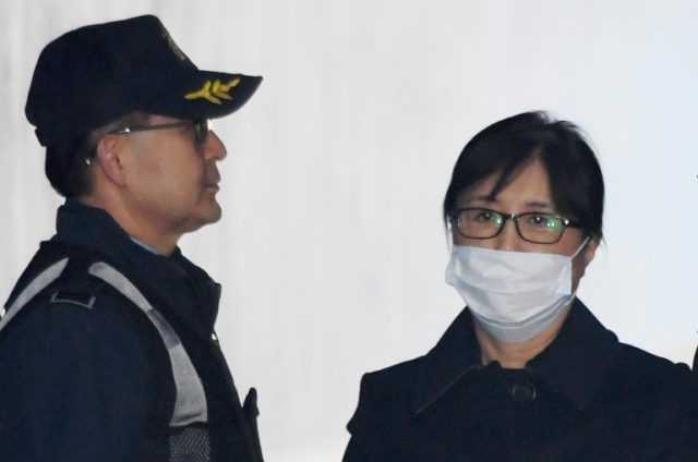Choi Soon-sil arrives at Seoul Central District Court to hear the verdict