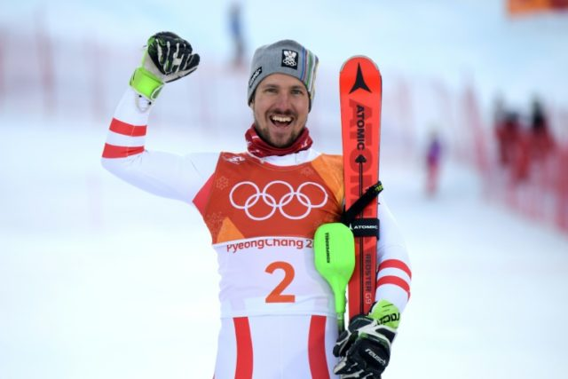 Austrian star Marcel Hirscher finally bagged Olympic gold when he produced a brilliant slalom run to storm to a dominant victory in the men's alpine combined on Tuesday