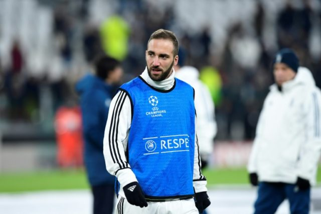 Higuain will lead the Juventus attack in the last-16 clash against Spurs