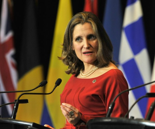 "Foreign Minister Chrystia Freeland has pledged ""to use every means at Canada's disposal to seek further information"""