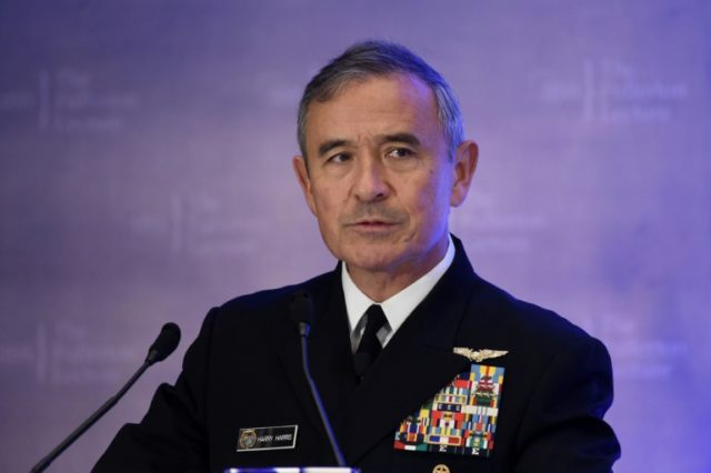 Admiral Harry B Harris, Jr -- who has been nominated to become the next US ambassador to Australia, and has led PACOM for more than two years -- addressed China's military might and concerns about the threat of a North Korean missile strike