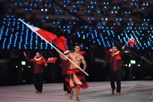 Topless Tongan flag-bearer Pita Taufatofua makes his Winter Olympic debut on Friday in cross-country skiing and it's fair to say that he's aiming low