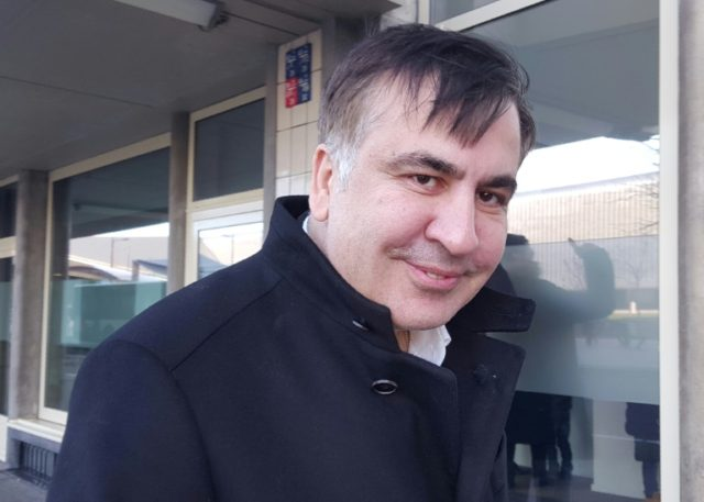 In the Netherlands, Saakashvili vows to 'continue fight'