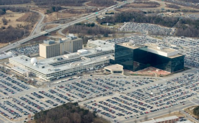 The National Security Agency (NSA) headquarters is located outside Washington in Fort Meade, Maryland