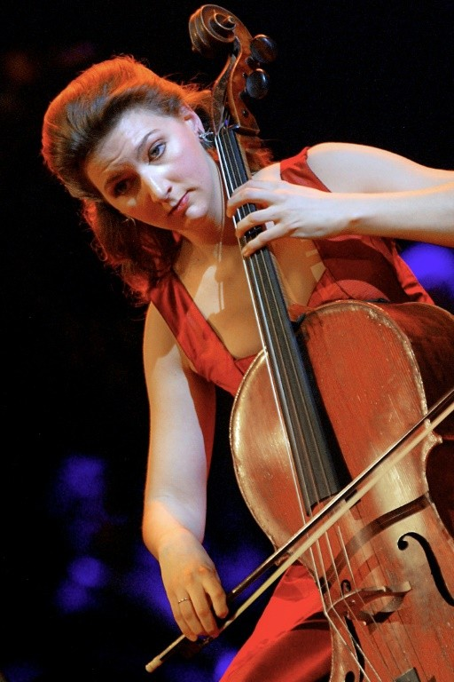 Cellist Ophelie Gaillard performing in 2003 after being named the best new instrumental soloist at the French classical music awards
