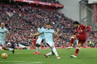 Mohamed Salah netted against West Ham and is closing in on Ian Rush's Liverpool scoring record of 47 in a single season