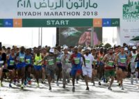 The first Riyadh half marathon drew an international all-male field