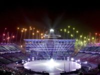 The Latest: Winter Olympics open with parade, fireworks