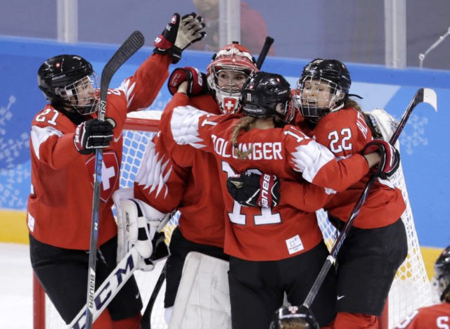 The Latest: Swiss quash Japan's quest for women's hockey win