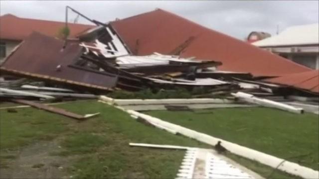Cyclone destroys Parliament House, homes on Tonga, Fiji next
