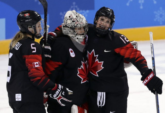 The Latest: Canada beats Finland 4-1 in women's hockey