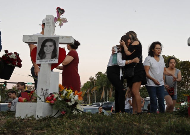 Students return to Parkland, Florida school after shooting massacre