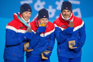 Pyeongchang Roundup: Norway leads medal count, sweeps men's skiathalon