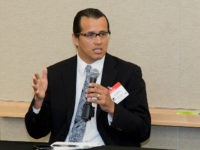 William Mendoza, executive director, White House Initiative on American Indian and Alaska Native Education, speaks to participants of the the American Indian Science and Engineering Society (AISES) Government Relations Council Meeting on July, 11, 2013 at the NRC Headquarters.