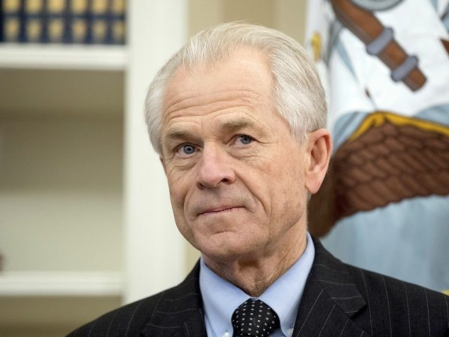 National Trade Council adviser Peter Navarro waits for President Donald Trump for an event in the Oval Office at the White House. Navarro signed on with the Trump campaign as a trade adviser only to see his cont