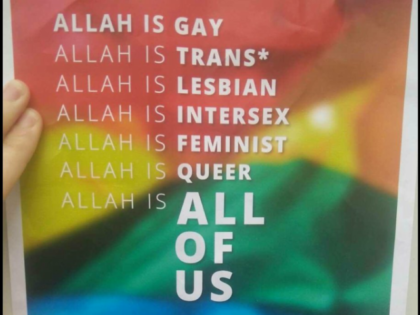 Allah is Gay Leaflet handed out by Lauren Southern