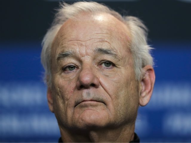 Bill Murray attends a news conference for the movie 'Isle of Dogs' during the 68th edition of the International Film Festival Berlin, Berlinale, in Berlin, Germany, Thursday, Feb. 15, 2018. (AP Photo/Markus Schreiber)