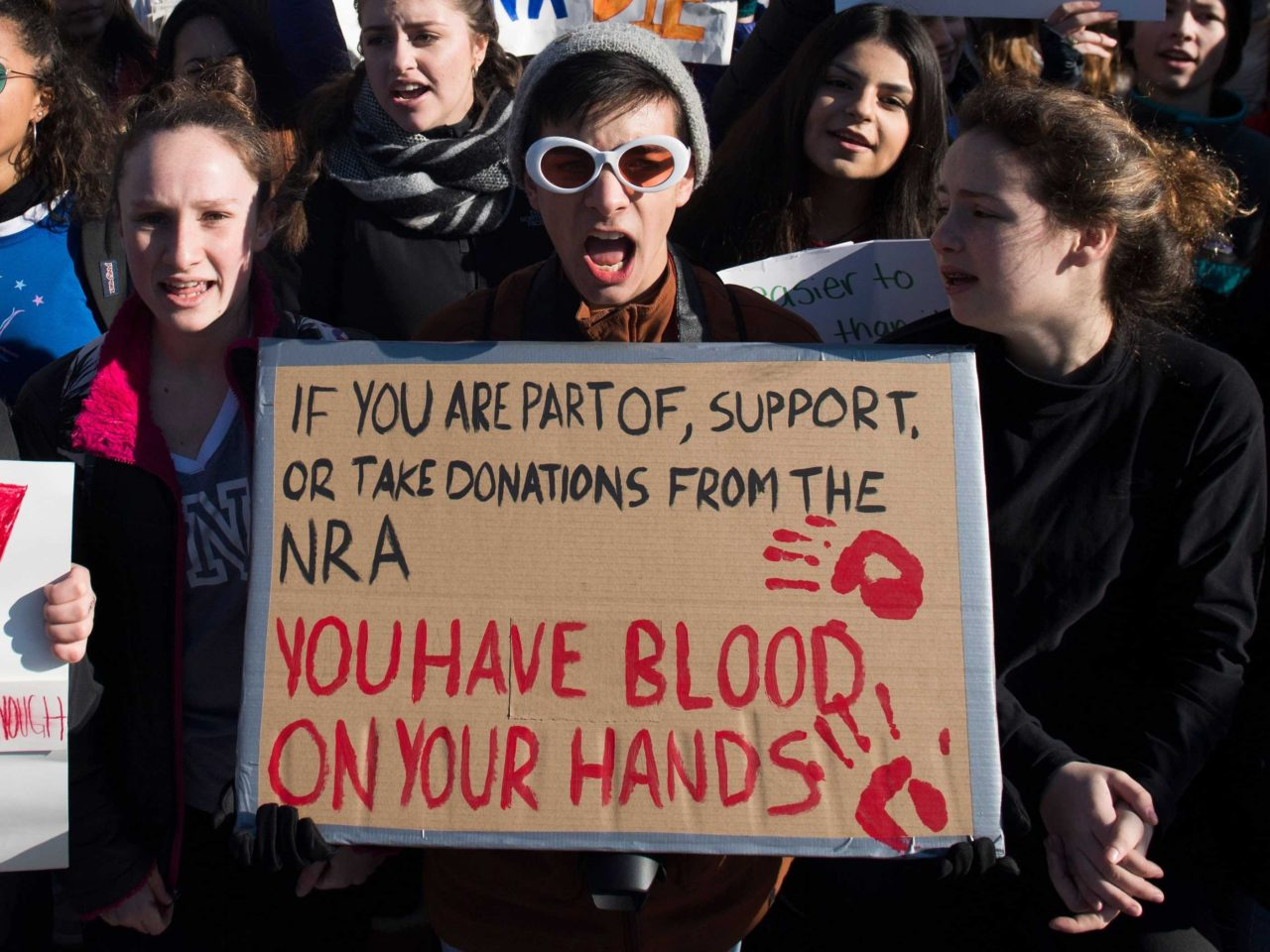 Blood on your hands NRA (Saul Loeb / AFP / Getty)