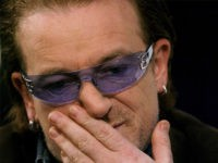 WASHINGTON - DECEMBER 3: Bono, lead singer of the rock group U2, speaks about AIDs December 3, 2003 in Washington, DC. The Kaiser Foundation hosted a seminar on the U.S. and global committment to HIV/AIDS and Africa. (Photo by Mark Wilson/Getty Images)