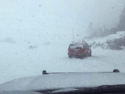 Cailfornia snow (CHP via Associated Press)
