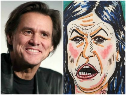 Jim Carrey Attacks 'So-Called Christian' Sarah Huckabee Sanders with Grotesque Portrait