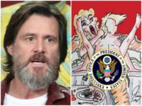 Jim Carrey Art Shows Trump Having Sex with Stormy Daniels