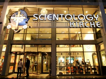 The new Scientology Church and center stands illuminated two days before its official opening January 11, 2007 in Berlin, Germany. Scientology is controversial in Germany, as critics charge it is not a church at all but a commercial enterprise. The German state refuses to recognize the group as a church. …