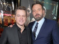 "Matt Damon and Director/Writer/Producer/Actor Ben Affleck seen at the World Premiere of Warner Bros. ""Live by Night"" at TCL Chinese Theater on Monday, Jan. 9, 2017, in Los Angeles. (Photo by Eric Charbonneau/Invision for Warner Bros./AP Images)"