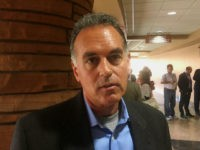 "Republican congressional candidate Danny Tarkanian talks with a reporter Friday, March 16, 2018, at the Clark County Government Center in Las Vegas about President Donald Trump asking him to switch from running for U.S. Senate to running for a Congress seat in Nevada. Tarkanian said Trump was ""adamant,"" and said …"
