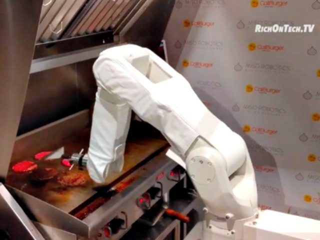 Burger-flipping robot is already cooking at California fast food chain