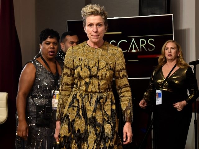 Actor Frances McDormand, winner of the Best Actress award for 'Three Billboards Outside Ebbing, Missouri' in the press room during the 90th Annual Academy Awards at Hollywood & Highland Center on March 4, 2018 in Hollywood, California. (Photo by Alberto E. Rodriguez/Getty Images)