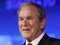 "Former President George W. Bush speaks Friday, June 23, 2017, during ""Stand-To,"" a summit held by the George W. Bush Institute focused on veteran transition, in Washington. (AP Photo/Jacquelyn Martin)"