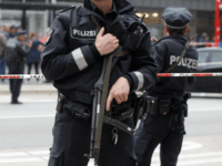 Police cordon off the area around a supermarket in the northern German city of Hamburg, where a man killed one person and wounded several others in a knife attack, on July 28, 2017. 'There is no valid information yet on the motive or the number of people injured' by the …