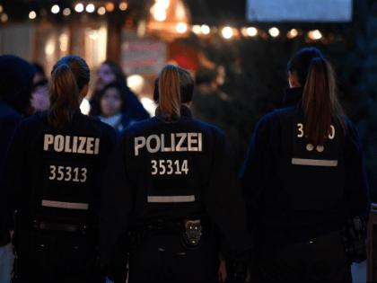 Policewomen patrol at the Christmas market at Breitscheidplatz near the Kaiser-Wilhelm-Gedaechtniskirche (Kaiser Wilhelm Memorial Church) one day ahead the anniversary of last year's deadly truck attack in Berlin, on December 18, 2017. Germany commemorates on December 19, 2017 victims of last year's devastating Christmas market attack in Berlin that claimed …