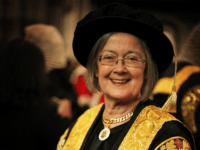 LONDON, ENGLAND - OCTOBER 01: Baroness Hale of Richmond, One of the new 11 Justices of the Supreme Court, and the only woman, arrives in Westminster Abbey after being sworn in on October 1, 2009 in London, England. Lady Hale wears a hat despite other Justices of the Supreme court …
