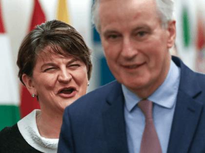 Arlene Foster and Michel Barnier