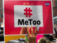 A South Korean demonstrator holds a banner during a rally to mark International Women's Day as part of the country's #MeToo movement in Seoul on March 8, 2018. The #MeToo movement has gradually gained ground in South Korea, which remains socially conservative and patriarchal in many respects despite its economic and technological advances. / AFP PHOTO / Jung Yeon-je (Photo credit should read JUNG YEON-JE/AFP/Getty Images)
