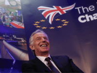 LONDON, ENGLAND - MARCH 29: Former British Prime Minister Tony Blair takes part in a Q&A during the 'UK In A Changing Europe Conference' at the QEII Centre on March 29, 2018 in London, England. After holding a referendum, in June 2016, the United Kingdom voted to leave the European …