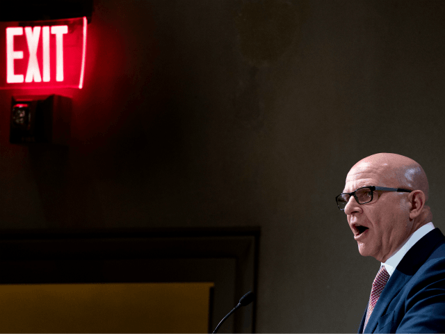 White House National Security Adviser H.R. McMaster delivers keynote remarks during a discussion on 'Syria: Is the Worst Yet to Come?' in Washington, DC, on March 15, 2018. / AFP PHOTO / JIM WATSON (Photo credit should read JIM WATSON/AFP/Getty Images)