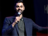NEW YORK, NY - NOVEMBER 07: Hasan Minhaj speaks onstage during the 11th Annual Stand Up for Heroes Event presented by The New York Comedy Festival and The Bob Woodruff Foundation at The Theater at Madison Square Garden on November 7, 2017 in New York City. (Photo by Bryan Bedder/Getty …